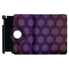 Hexagon Grid Geometric Hexagonal Apple Ipad 2 Flip 360 Case by Simbadda