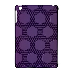 Hexagon Grid Geometric Hexagonal Apple Ipad Mini Hardshell Case (compatible With Smart Cover)