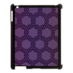 Hexagon Grid Geometric Hexagonal Apple iPad 3/4 Case (Black) Front