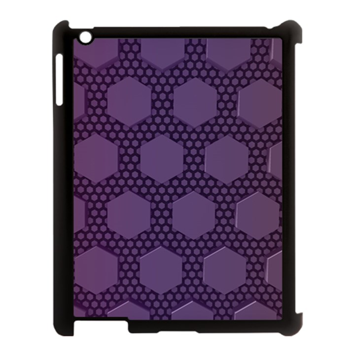 Hexagon Grid Geometric Hexagonal Apple iPad 3/4 Case (Black)