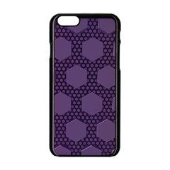 Hexagon Grid Geometric Hexagonal Apple Iphone 6/6s Black Enamel Case