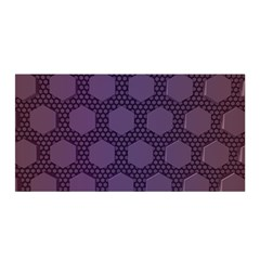 Hexagon Grid Geometric Hexagonal Satin Wrap