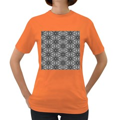 Black And White Pattern Women s Dark T Shirt