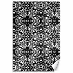 Black And White Pattern Canvas 24  X 36  by Simbadda