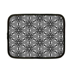 Black And White Pattern Netbook Case (small) by Simbadda