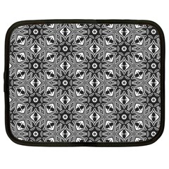 Black And White Pattern Netbook Case (large)