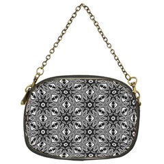 Black And White Pattern Chain Purse (two Sides)