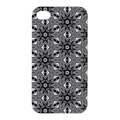 Black And White Pattern Apple Iphone 4/4s Hardshell Case by Simbadda