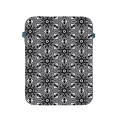 Black And White Pattern Apple Ipad 2/3/4 Protective Soft Cases by Simbadda