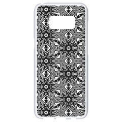 Black And White Pattern Samsung Galaxy S8 White Seamless Case