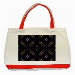 Seamless Background Abstract Vector Classic Tote Bag (red)