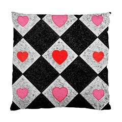 Diamonds Hearts Mosaic Pattern Standard Cushion Case (one Side) by Simbadda