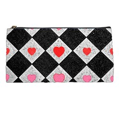 Diamonds Hearts Mosaic Pattern Pencil Cases by Simbadda