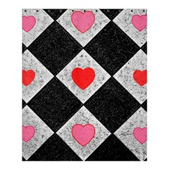 Diamonds Hearts Mosaic Pattern Shower Curtain 60  X 72  (medium)