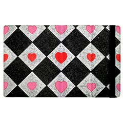 Diamonds Hearts Mosaic Pattern Apple Ipad 3/4 Flip Case