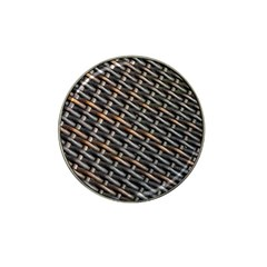 Rattan Wood Background Pattern Hat Clip Ball Marker (10 Pack)