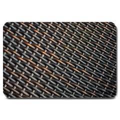 Rattan Wood Background Pattern Large Doormat  by Simbadda