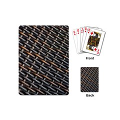 Rattan Wood Background Pattern Playing Cards (mini)