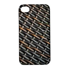 Rattan Wood Background Pattern Apple Iphone 4/4s Hardshell Case With Stand