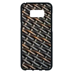 Rattan Wood Background Pattern Samsung Galaxy S8 Plus Black Seamless Case