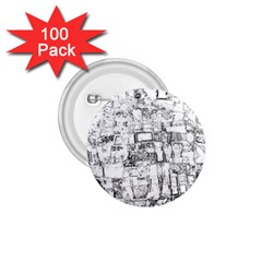 Black And White Background Wallpaper Pattern 1 75  Buttons (100 Pack)