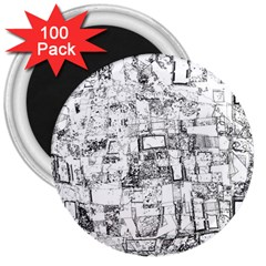 Black And White Background Wallpaper Pattern 3  Magnets (100 Pack)