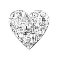 Black And White Background Wallpaper Pattern Heart Magnet