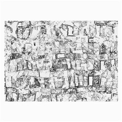 Black And White Background Wallpaper Pattern Large Glasses Cloth (2 Side)