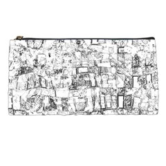 Black And White Background Wallpaper Pattern Pencil Cases by Simbadda