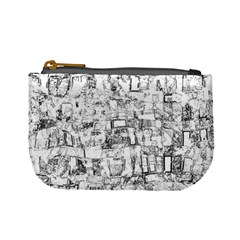 Black And White Background Wallpaper Pattern Mini Coin Purse