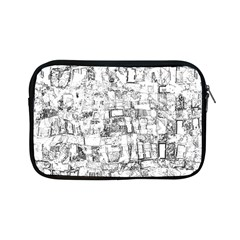 Black And White Background Wallpaper Pattern Apple Ipad Mini Zipper Cases