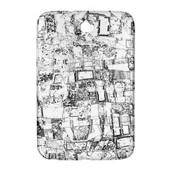 Black And White Background Wallpaper Pattern Samsung Galaxy Note 8 0 N5100 Hardshell Case