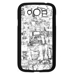 Black And White Background Wallpaper Pattern Samsung Galaxy Grand Duos I9082 Case (black)