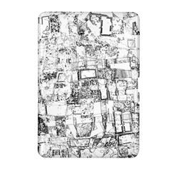 Black And White Background Wallpaper Pattern Samsung Galaxy Tab 2 (10 1 ) P5100 Hardshell Case
