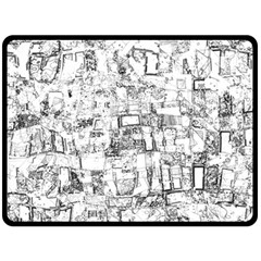 Black And White Background Wallpaper Pattern Double Sided Fleece Blanket (large)
