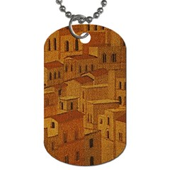 Roof Building Canvas Roofscape Dog Tag (one Side)