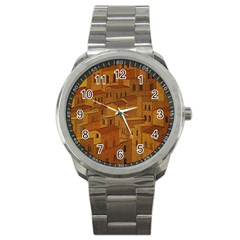 Roof Building Canvas Roofscape Sport Metal Watch