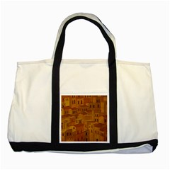 Roof Building Canvas Roofscape Two Tone Tote Bag by Simbadda