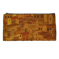 Roof Building Canvas Roofscape Pencil Cases by Simbadda