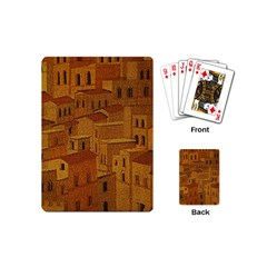Roof Building Canvas Roofscape Playing Cards (mini) by Simbadda