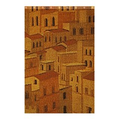 Roof Building Canvas Roofscape Shower Curtain 48  X 72  (small)  by Simbadda