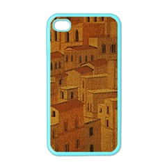 Roof Building Canvas Roofscape Apple Iphone 4 Case (color)
