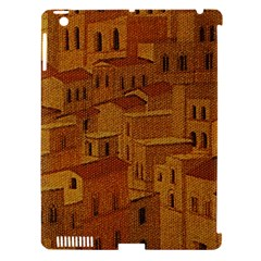 Roof Building Canvas Roofscape Apple Ipad 3/4 Hardshell Case (compatible With Smart Cover)