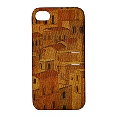 Roof Building Canvas Roofscape Apple Iphone 4/4s Hardshell Case With Stand