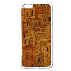Roof Building Canvas Roofscape Apple Iphone 6 Plus/6s Plus Enamel White Case