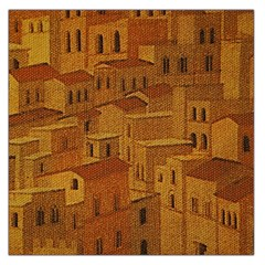 Roof Building Canvas Roofscape Large Satin Scarf (square)