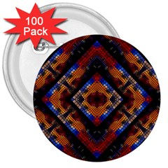 Kaleidoscope Art Pattern Ornament 3  Buttons (100 Pack)