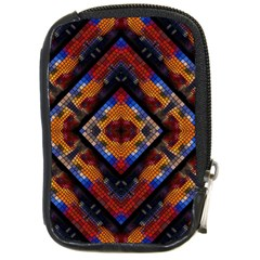 Kaleidoscope Art Pattern Ornament Compact Camera Leather Case