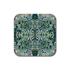 Pattern Design Pattern Geometry Rubber Square Coaster (4 Pack)