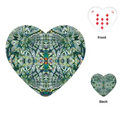 Pattern Design Pattern Geometry Playing Cards (heart) by Simbadda